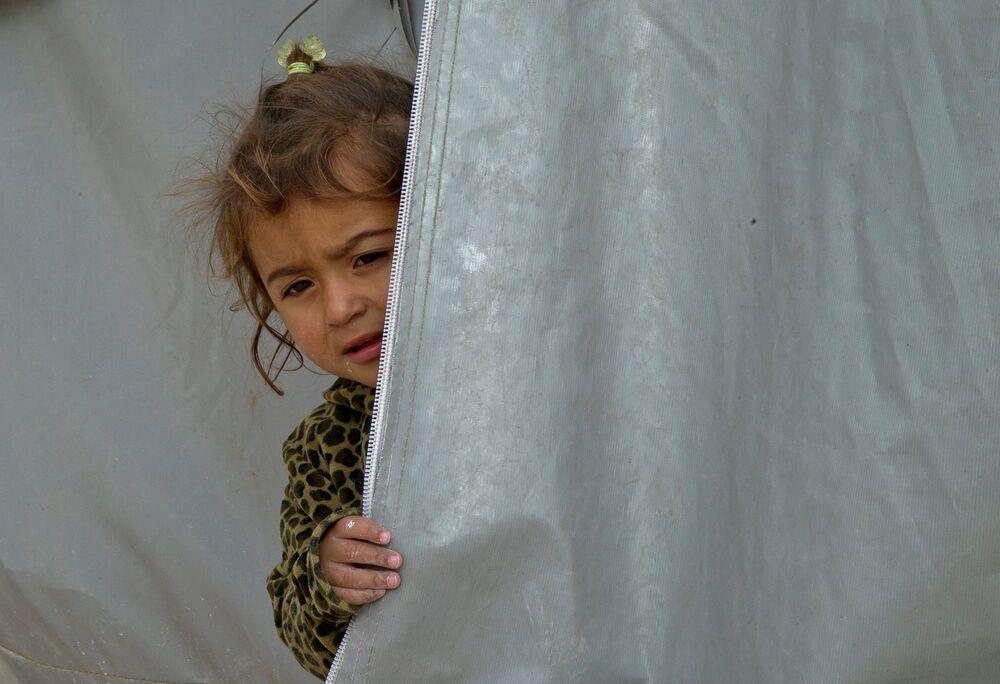 A Syrian Kurdish refugee child