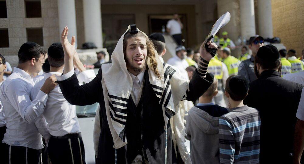 An ultra-Orthodox Jewish man