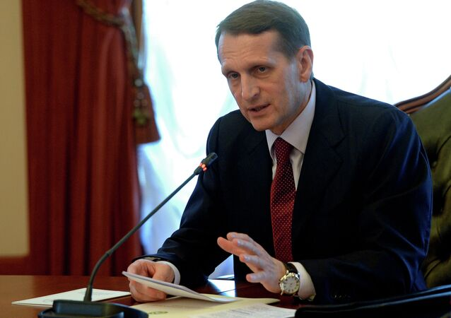 Finnish authorities are negotiating with Brussels on temporarily lifting the EU entry ban for Russian Duma Speaker Sergei Naryshkin, who has been invited by the Organization for Security and Cooperation in Europe for its July summit in Helsinki, the Finnish Broadcasting Company (YLE) has reported.