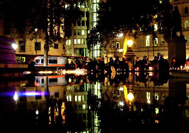 The No To Hate Crime vigil in London's Trafalgar Square