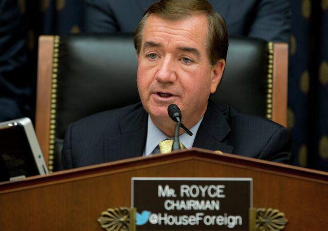 House Foreign Affairs Committee Chairman Ed Royce, R-Calif., speaks on Capitol Hill in Washington, Thursday, Sept. 18, 2014