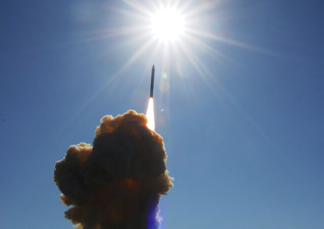 A Ground-Based Interceptor is shown shortly after liftoff from Vandenberg Air Force Base, Calif., on Friday, Dec. 5, 2008