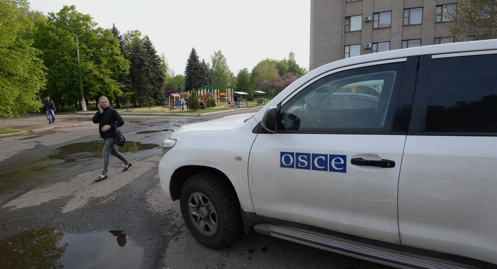 Observers from the Organization for Security and Co-operation in Europe will monitor the upcoming elections in Ukraine's southeast only if they receive an official invitation from Kiev