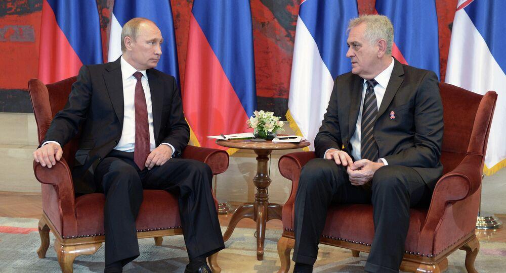 Vladimir Putin visits Serbia