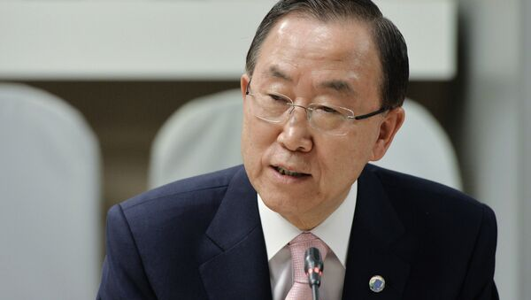 United Nations Secretary General Ban Ki-moon warned of Ebola spread in remote West Africa regions - Sputnik International