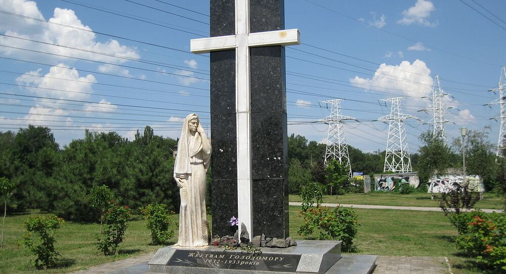 The monument devoted to memory of the victims of Famine-Genocide, Zaporozhye