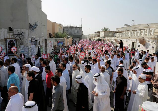 Saturday's parliamentary and municipal elections after midday prayers in Diraz, Bahrain