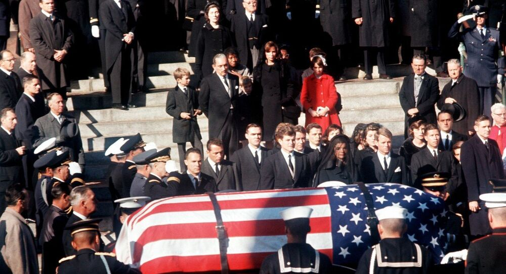John F. Kennedy's Funeral Robert Kennedy and Ted Kennedy with Jackie Kennedy