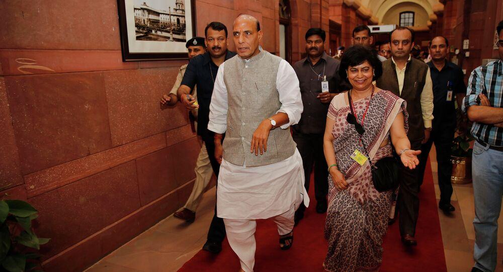 India's Home Minister Rajnath Singh