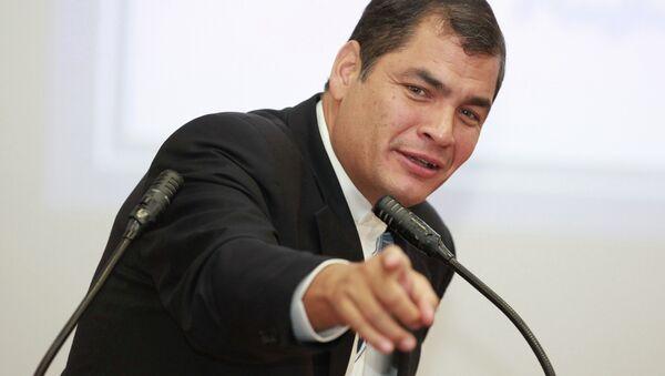 Ecuador President Rafael Correa - Sputnik International