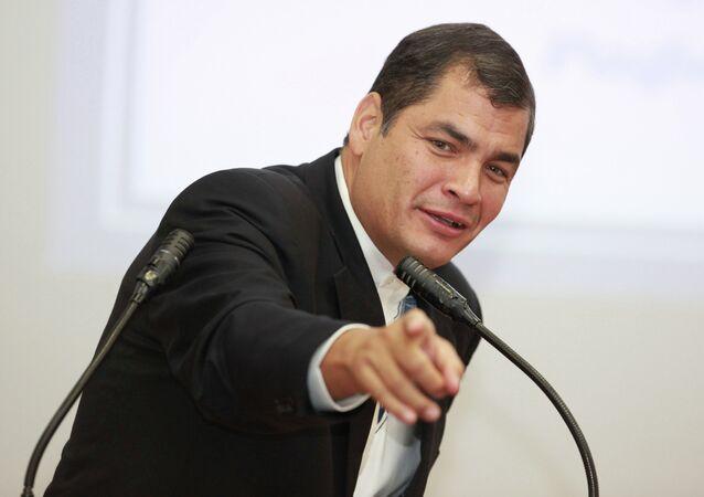 Ecuador President Rafael Correa