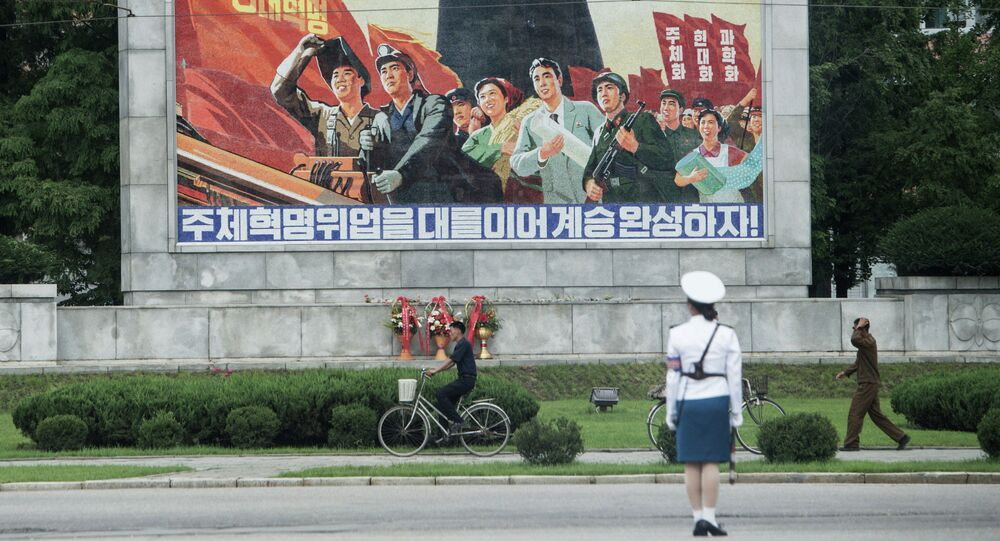 The center of Pyongyang.