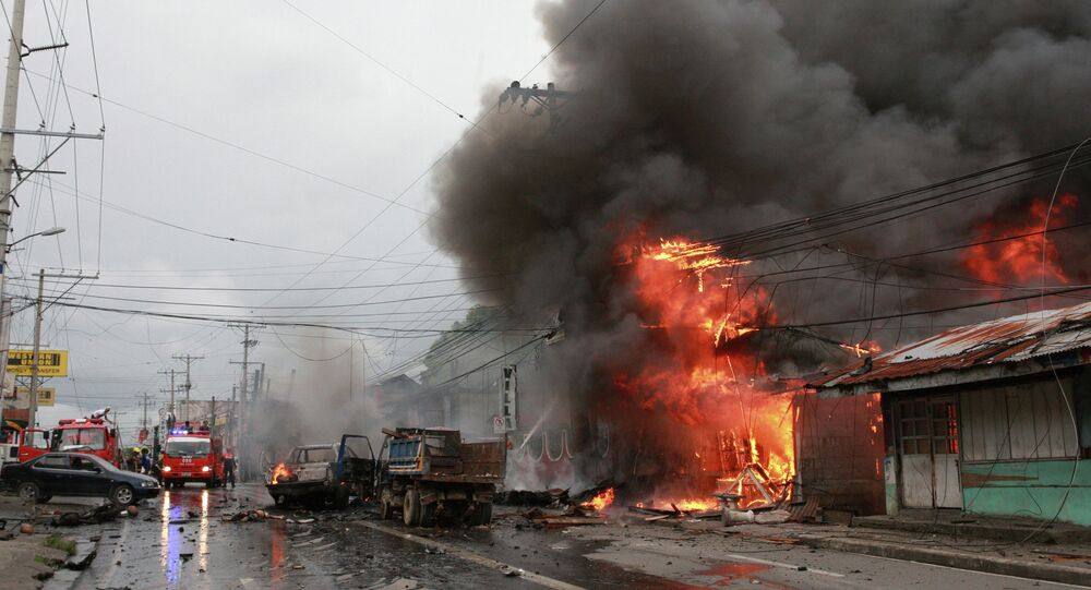 Fire at the city of Cotabato