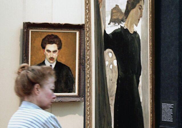 Valentin Serov's painting Portrait of Maria Zetlin