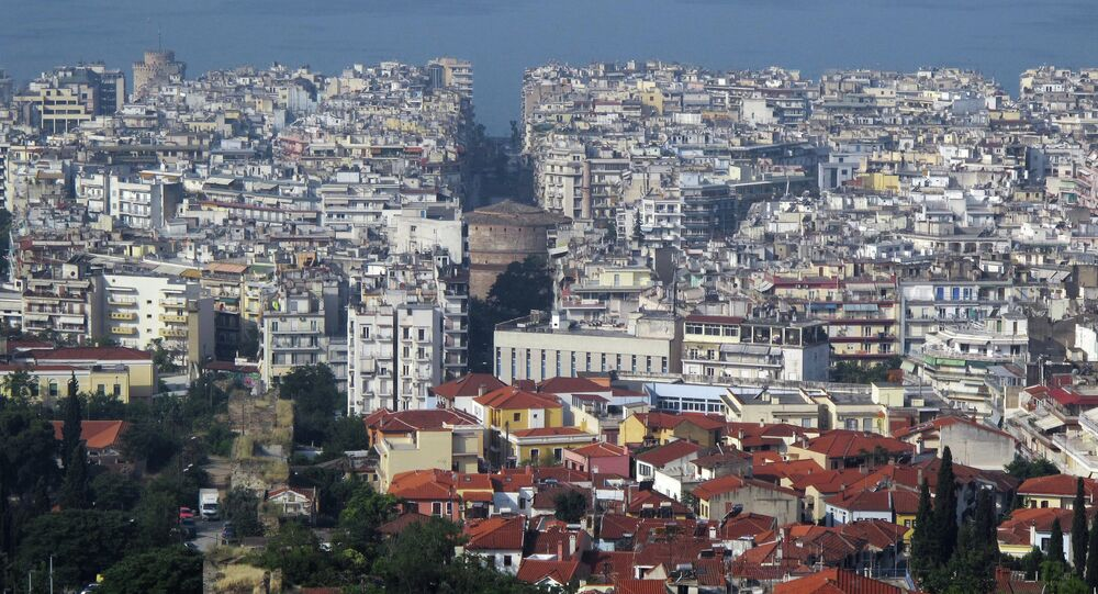 View of downtown Thessaloniki
