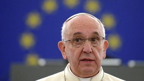 Pope Francis addresses the European Parliament  in Strasbourg, eastern France - Sputnik International