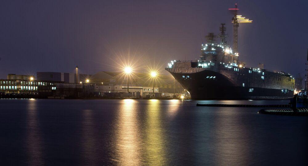 The STX Europe shipyard in Saint-Nazaire