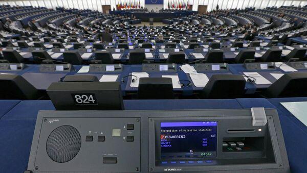 A general view shows the plenary room of the European Parliament - Sputnik International