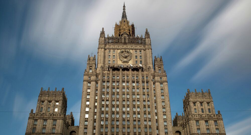 Building of the Russian Ministry of Foreign Affairs on Moscow's Smolenskaya-Sennaya Square