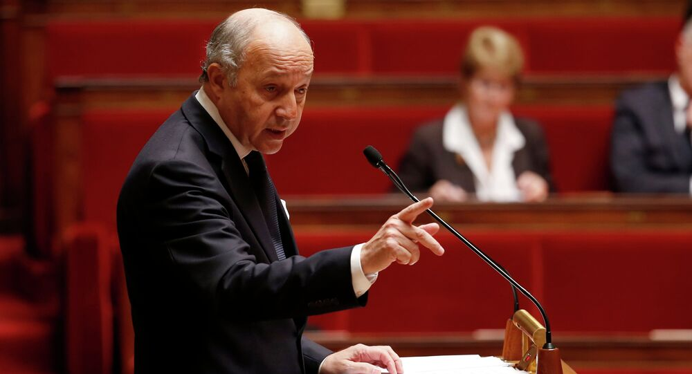 French Foreign Minister Laurent Fabius delivers a speech during a debate on Palestine status at the National Assembly in Paris November 28, 2014