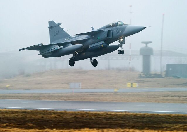 Swedish Air Force's JAS 39 Gripen jet fighter aircraft