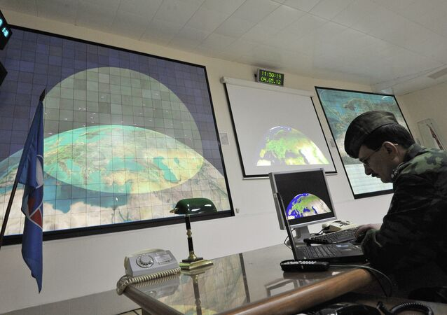 Radar of missile defense system of Moscow