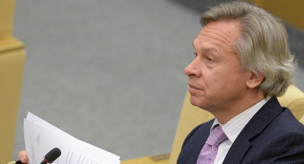 Alexei Pushkov, Chairman of the State Duma's International Affairs Committee