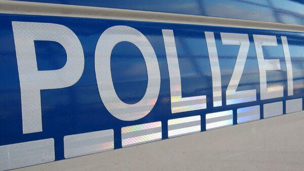 Schriftzug Polizei / Police logo - Sputnik International