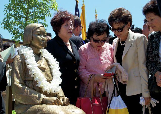 Unveiling of Comfort Women Memorial