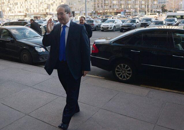 Syrian Deputy Foreign Minister Faisal Mikdad