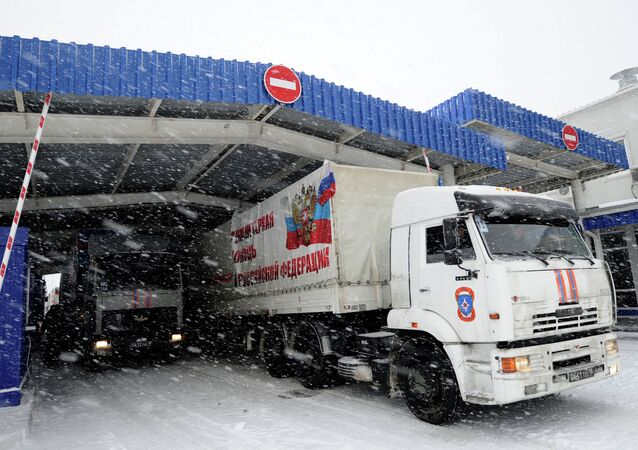 Eighth humanitarian aid convoy for Donbass