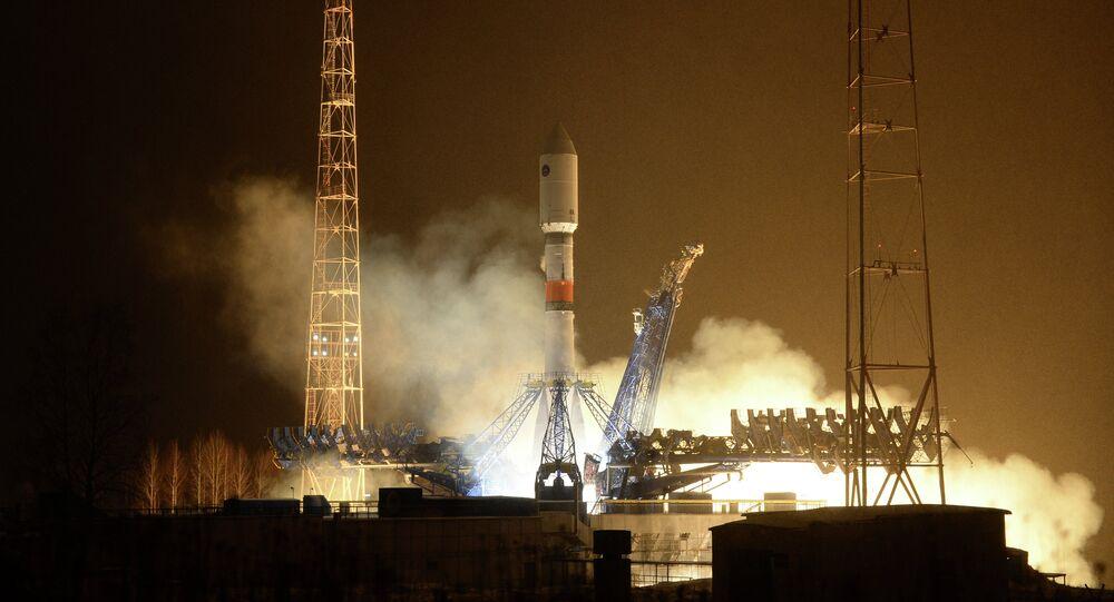 Start of the carrier rocket Soyuz-2.1b with the new 'Glonass-K' satellite  from Plesetsk Cosmodrome