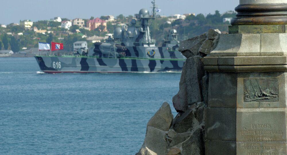Rehearsing for Navy Day parade in Sevastopol
