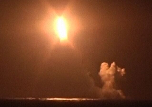 Launch of Bulava Intercontinental Missile From Russian Submarine