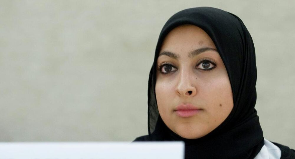 Maryam Al- Khawaja, Head of Foreign Relations for the Bahrain Center for Human Rights during the International Women's Day of the 19th Session Human Rights Council.