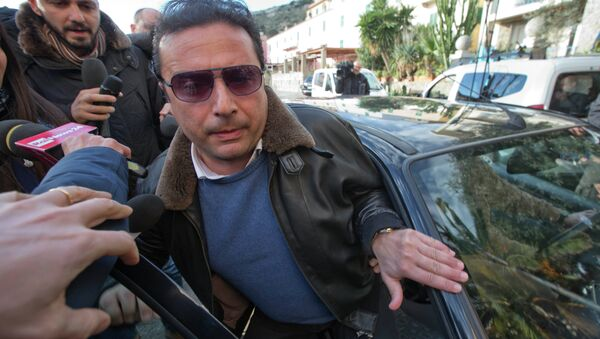 Captain Francesco Schettino arrives for a briefing - Sputnik International