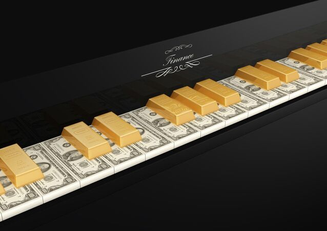 Dollars and gold ingots