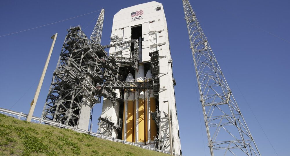The NASA Orion space capsule is seen atop a Delta IV rocket ready for a test launch at the Cape Canaveral Air Force Station, Wednesday, Dec. 3, 2014