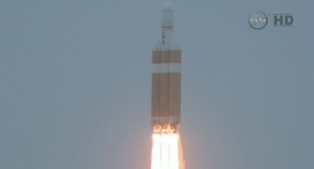 Footage of Orion Spacecraft Liftoff at Cape Canaveral