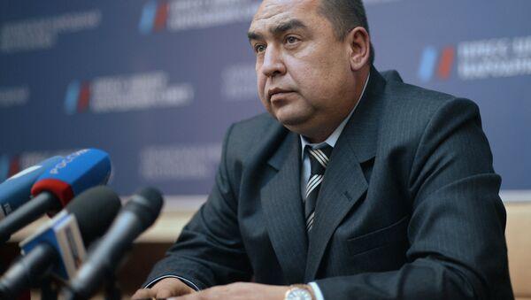 Prime Minister-elect of the Luhansk People's Republic Igor Plotnitsky during a news conference in Luhansk - Sputnik International