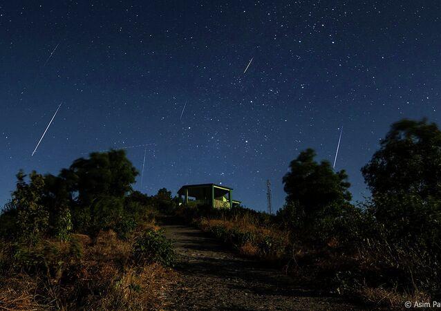 Geminids Meteor Shower in northern hemisphere