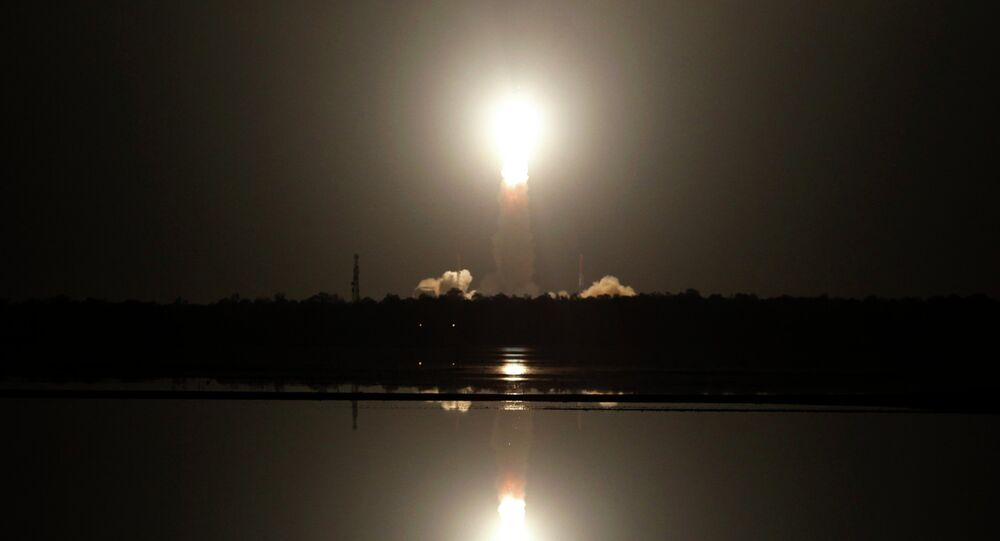 Indian Space Research Organization's Polar Satellite Launch Vehicle lifts off from the Satish Dhawan Space Center in Sriharikota, Andhra Pradesh, India