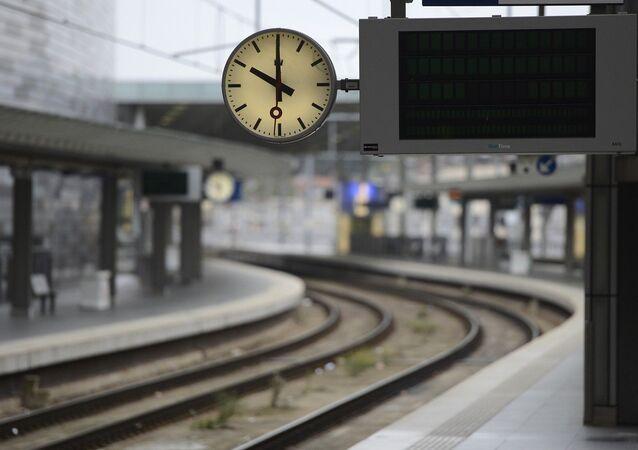 View of empty platforms of Antwerp's railway station are seen in this picture taken on Oct. 03, 2012 in Antwerp, Belgium