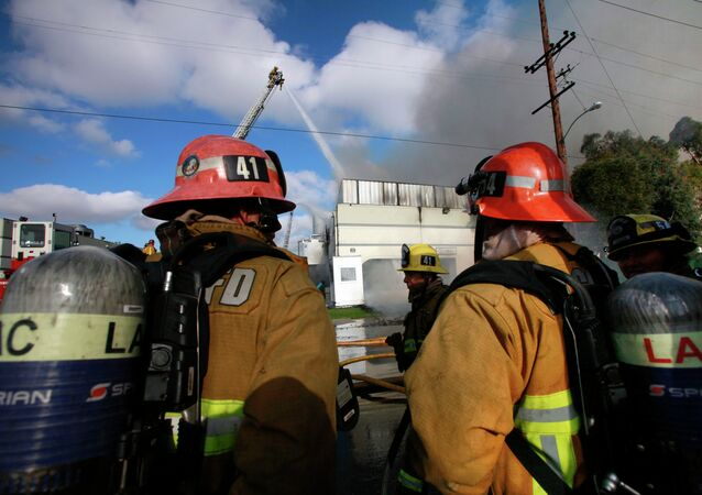 US firefighters