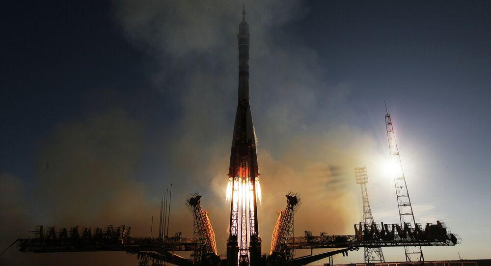 Launch of Soyuz-FG rocket with manned spacecraft Soyuz TMA-11M