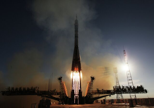 Launch of Soyuz-FG rocket with manned spacecraft Soyuz TMA-11M