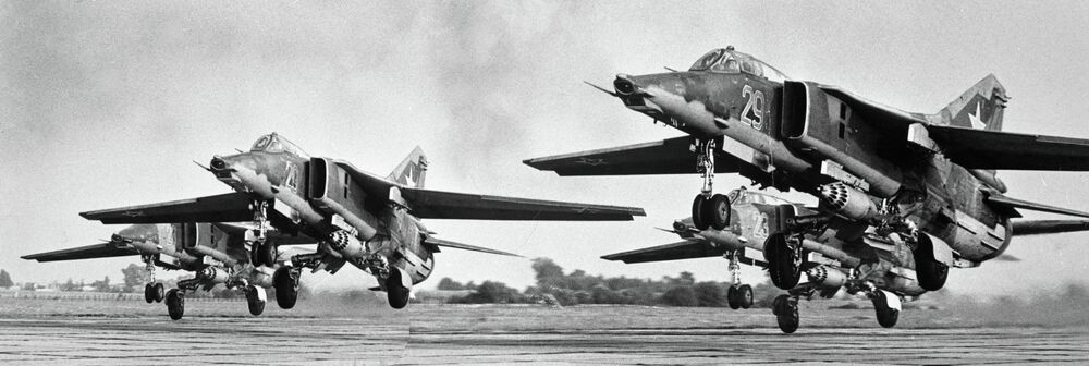 Fighters, taking off