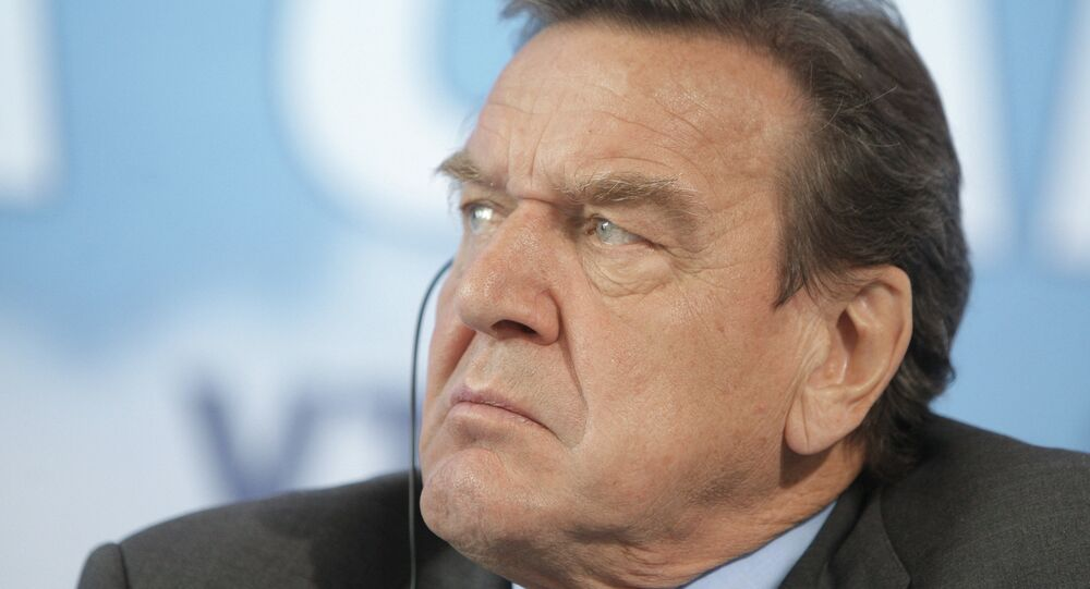 Gerhard Schroeder attends VTB Capital investment forum