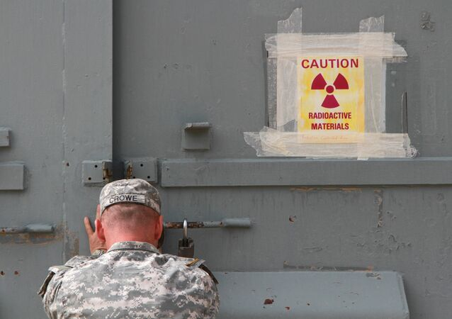 Lt. Col. Jason Crowe closes a radiation contaminated bunker at Ft. Bliss, Texas. (File)