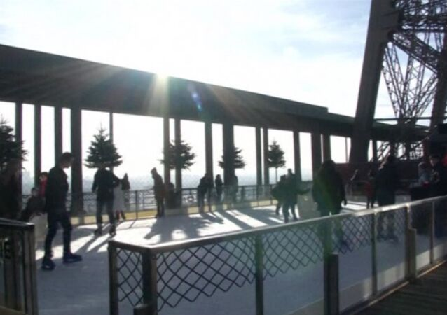 Eiffel Tower Ice Rink Opens to Visitors